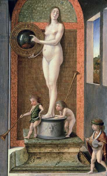 Allegory of Prudence (oil on panel) (see 13120 for pre-2000 restoration version)