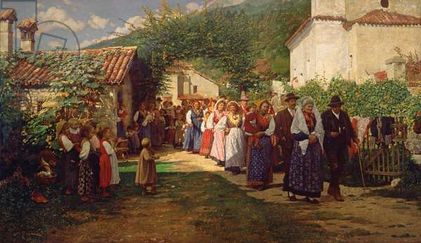 The Golden Wedding (oil on canvas)