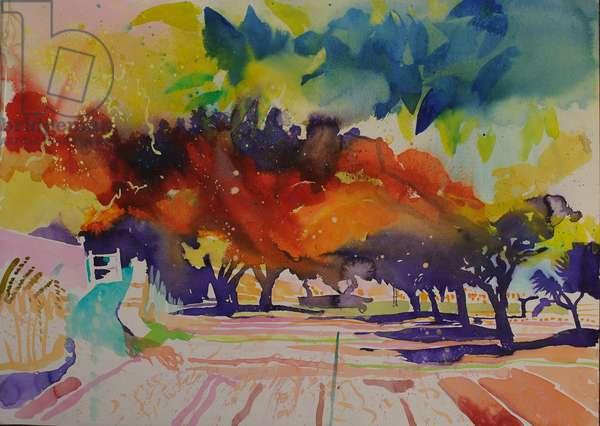 Paysage de ragondin 2014 (watercolour)