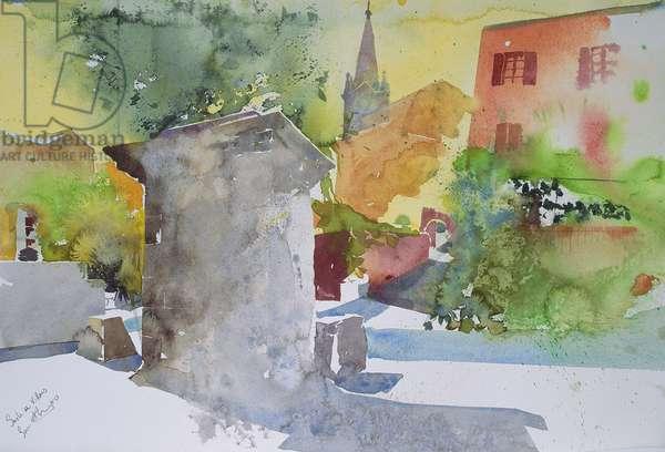Socle a Villars, France (watercolour)