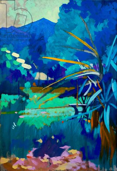 Under the blue, 2012, oil on panel