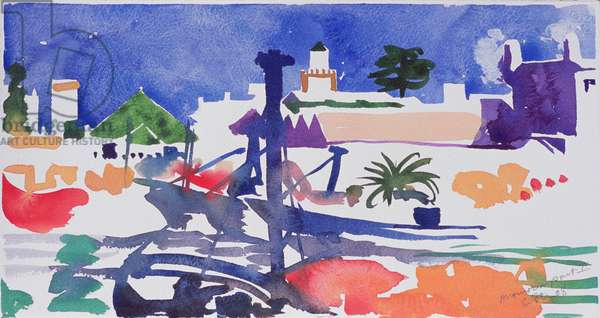 Moroccan Port II (w/c on paper)