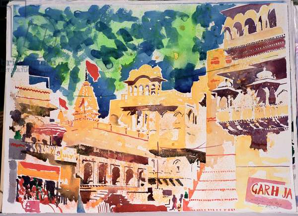 Jaiselmer Red Flag, 2007 (w/c on paper)