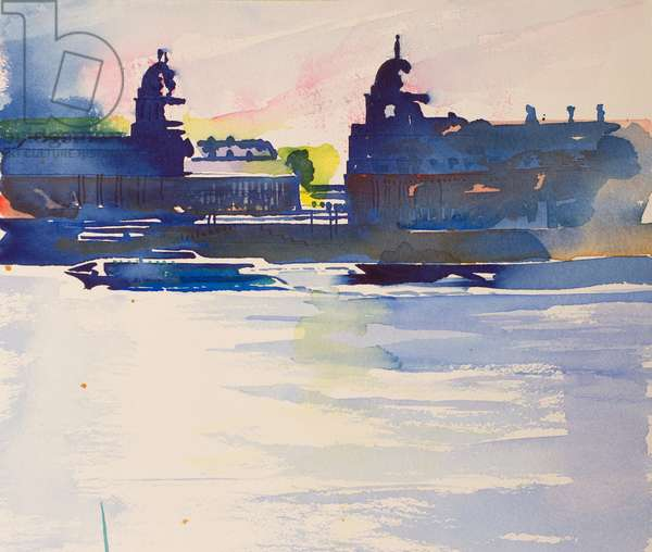 Greenwich from Isle of Dogs,2016, (watercolour)