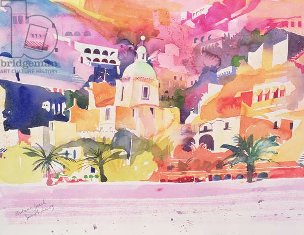 Positano Beach, 2003 (w/c on paper)