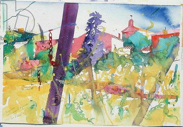 Faugeres, les Vignes D'Alquier, 2003 (w/c on paper)