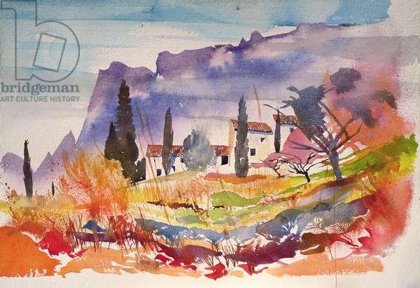 Le Caroux, France (watercolour)