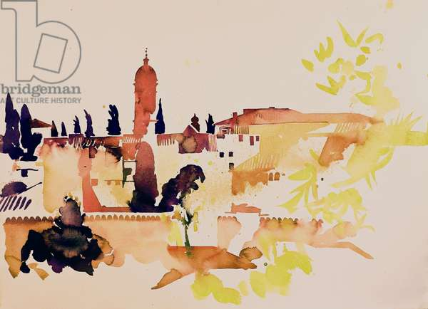 Tuscany San Quirico d' Orcia (w/c on paper)