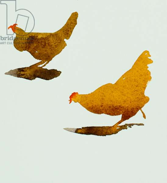 two chickens 2013(watercolour)