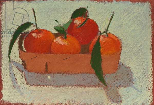 Christmas mandarins, 2015 pastel