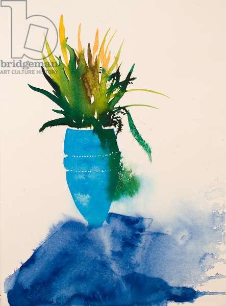 Blue vase, 2016, (watercolour)