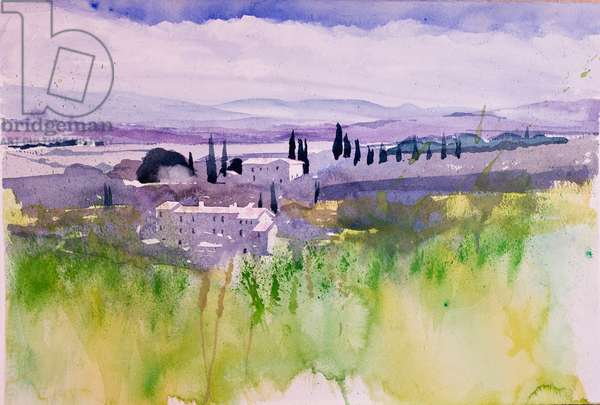 Val d'Orcia (w/c on paper)