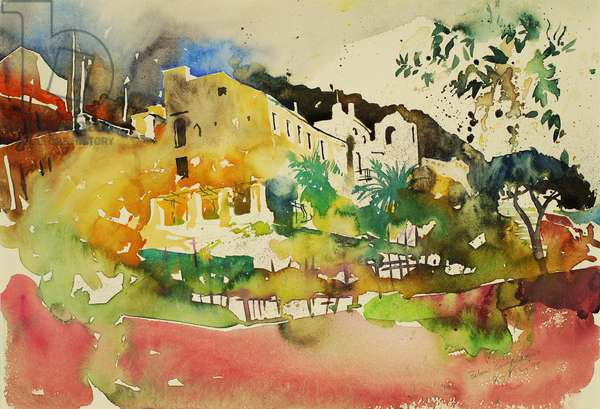 Below Campidoglio, 1999. (Watercolour)