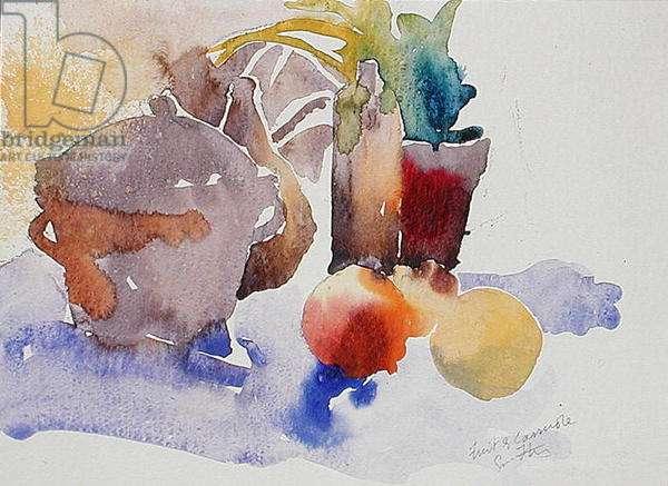 Fruit & Casserole (w/c on paper)