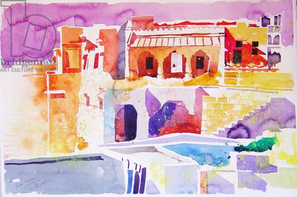 Tibetan Jaisalmer (w/c on paper)