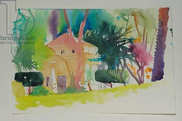 Dar Zemora Pavillion 2, 2010 (w/c on paper)