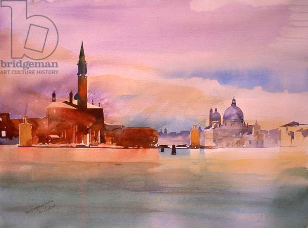 San Giorgio and Salute, 2006 (w/c on paper)