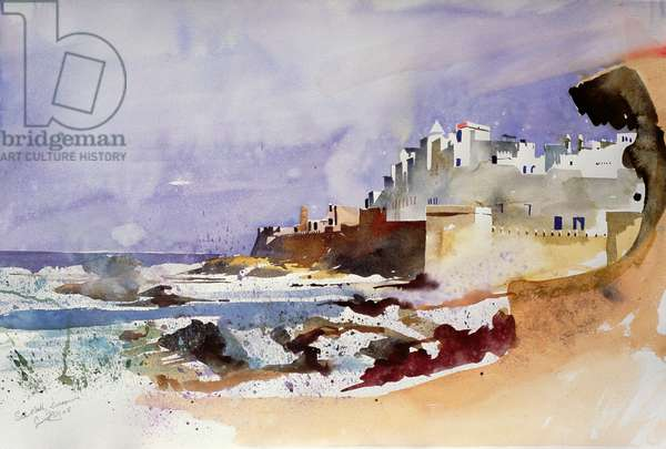 Sea Wall, Essaouira (w/c on paper)