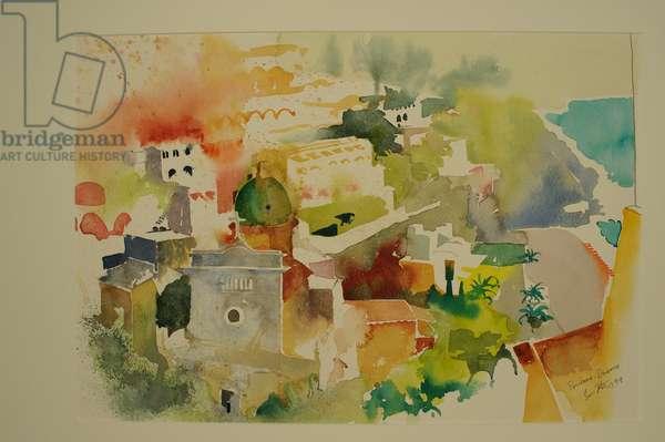 Positano Duomo 1999, (watercolour)