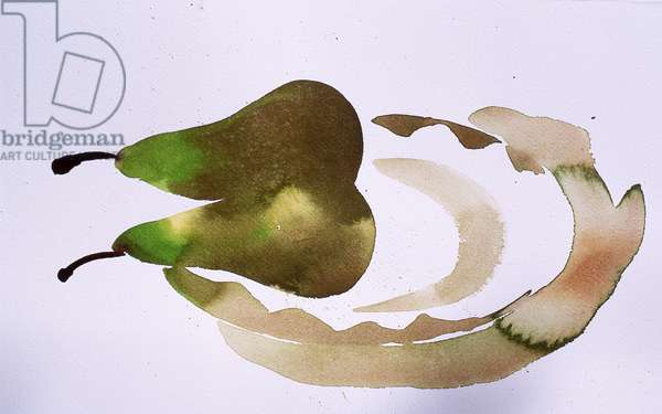 two pears on a plate, 2010