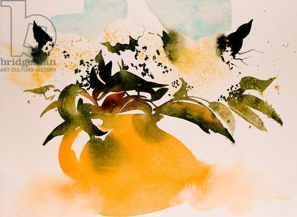 yellow jug 2016, watercolour