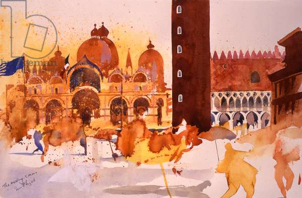 The Meeting, San Marco, 2006 (w/c on paper)