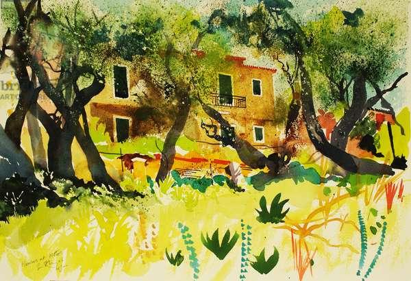 Houses at Notos 2006, (watercolour)