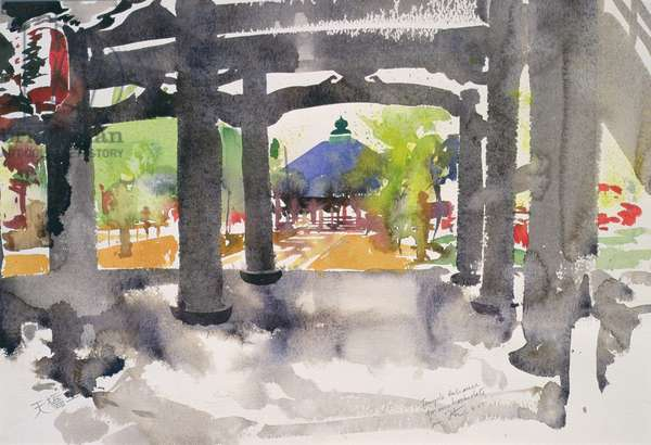 Temple Entrance, Amanohashidate (w/c on paper)