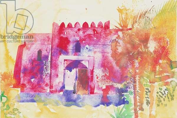 Jabreen walls, Oman, 2005 (watercolour)