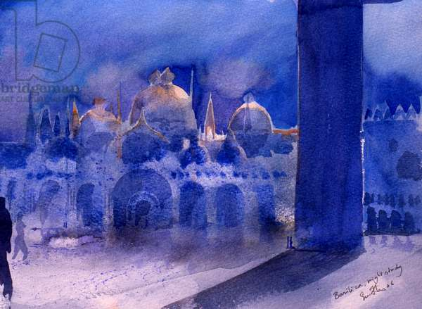Basilica, night study, 2006 (w/c on paper)
