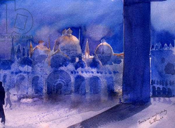Basilica, night study, 2006 (w/c on paper)
