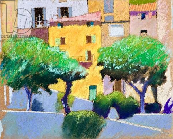 Roquebrun Facades (pastel on paper)