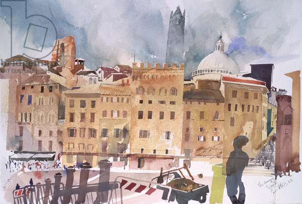 The Campo, Siena, 2002 (w/c on paper)