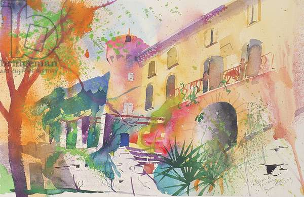 Chateau and Terrace, 2003 (w/c on paper)