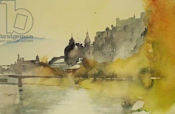 Salzburg river, 2005 (watercolour)
