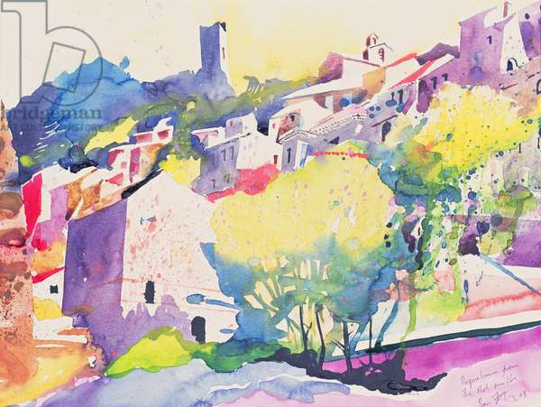 Roque Brun from the Old Mills, 2003 (w/c on paper)