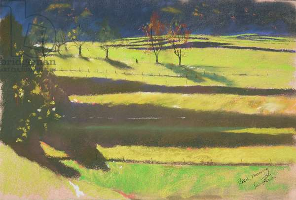 Morning in the Marshes (pastel on paper)