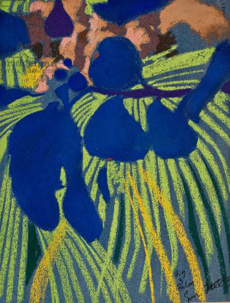 Fig and Palm (pastel on paper)