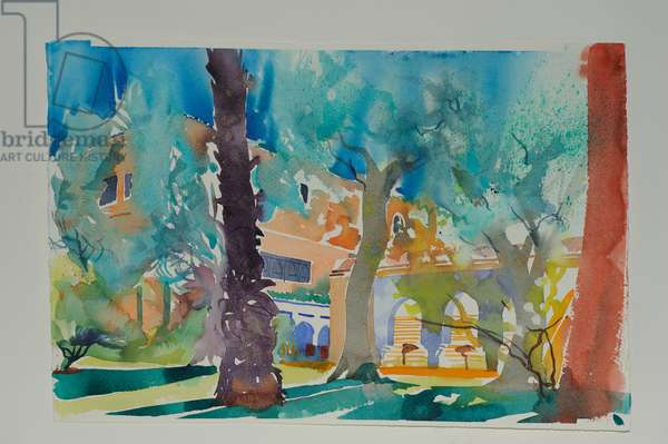 Mamounia Terrace, 2010 (w/c on paper)