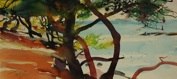 Caro, Martigues (watercolour)