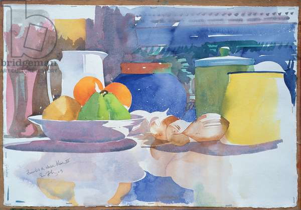 Fruits et Vase Bleu II, 2003 (w/c on paper)