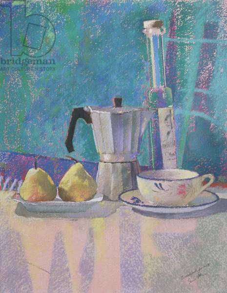 Breakfast for WK (pastel on paper)