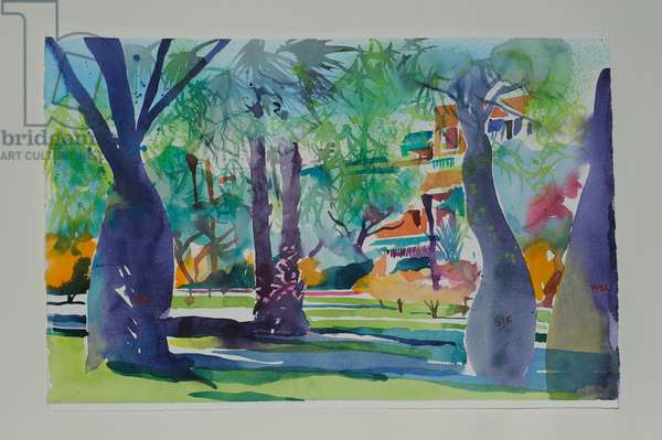 Painters at the Mamounia, 2010 (w/c on paper)