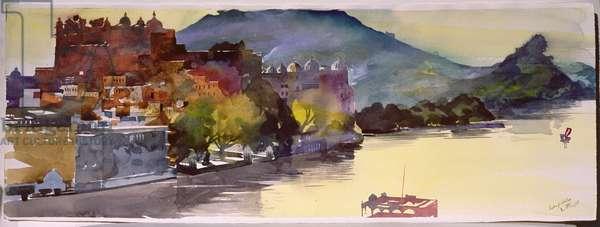 Lake Pichola, 2007 (w/c on paper)