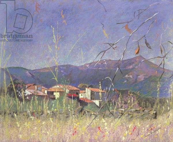 Landscape (pastel on paper)