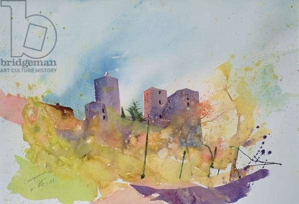 Caseneuve, France, 2001 (watercolour)