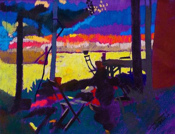 Garden Interval 1 (pastel on paper)