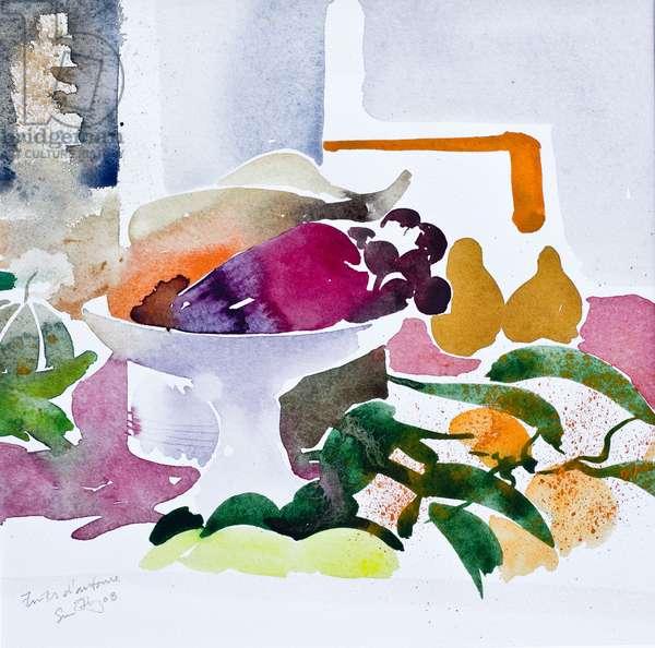 Fruits d'automne 2008 watercolour