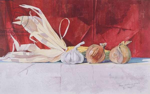 Maize, onion and garlic