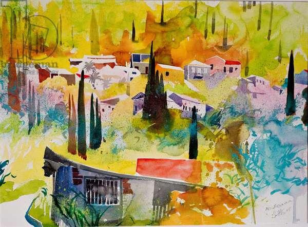 Ano Korakiana, Corfu, 2005 (w/c on paper)